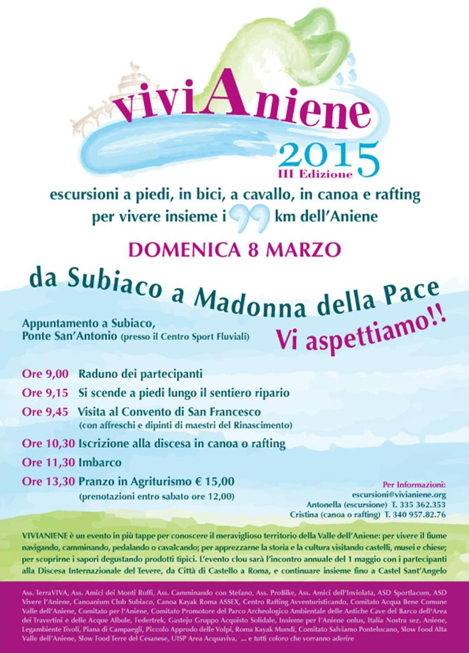ViviAniene 2015 - Da Subiaco a Madonna della Pace