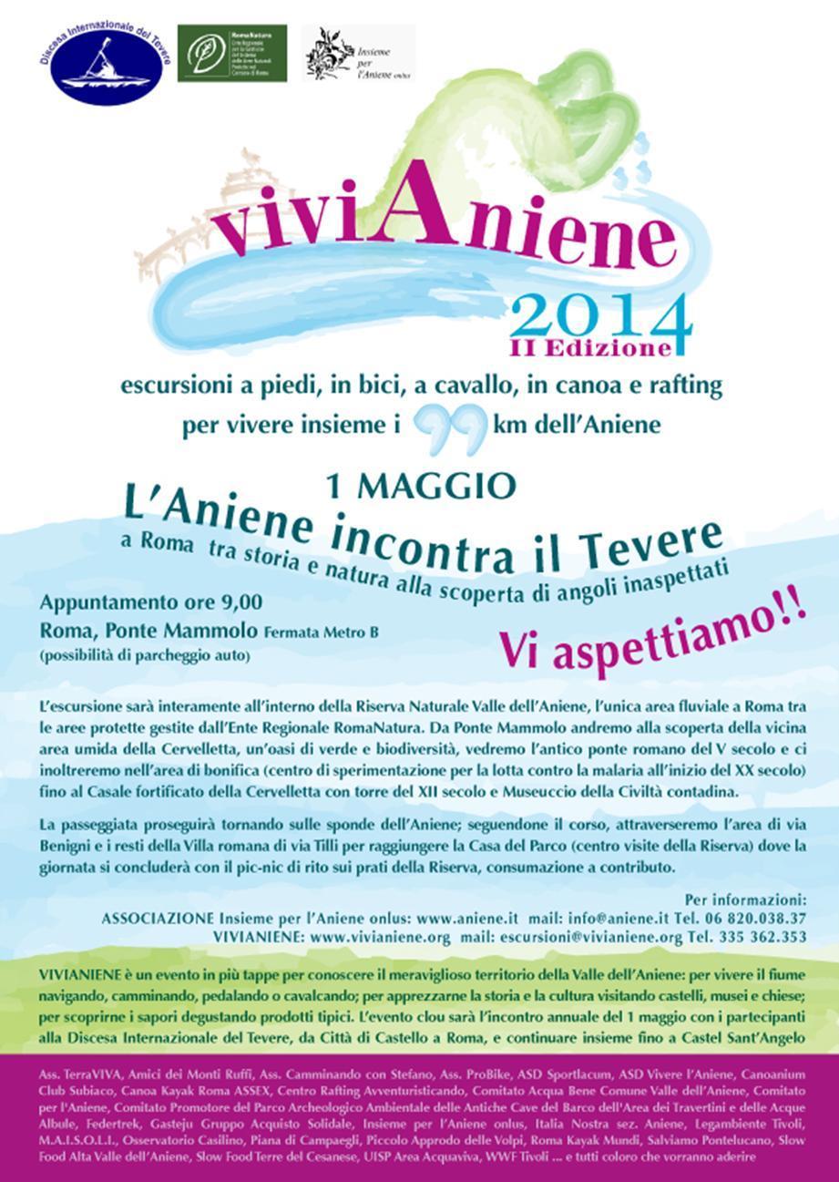 ViviAniene a Roma: l'Aniene incontra il Tevere