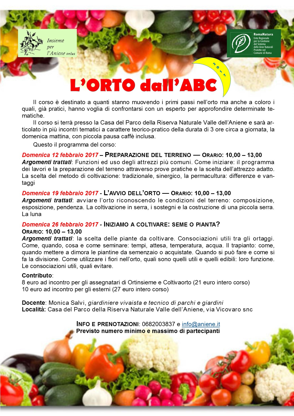 """Corso di orticoltura di base """"L'orto dall'ABC"""""""