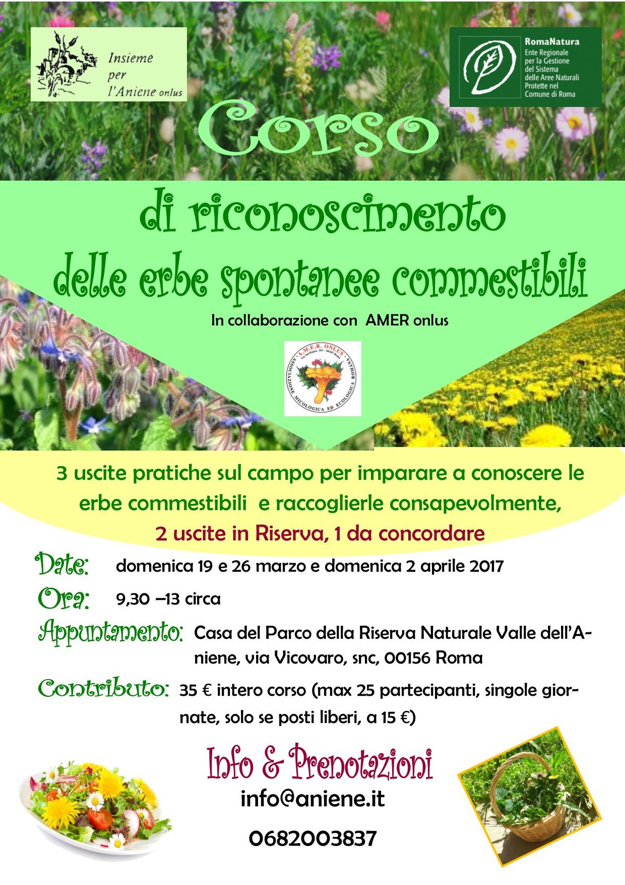 """Corso """"Riconoscimento delle erbe spontanee commestibili"""""""