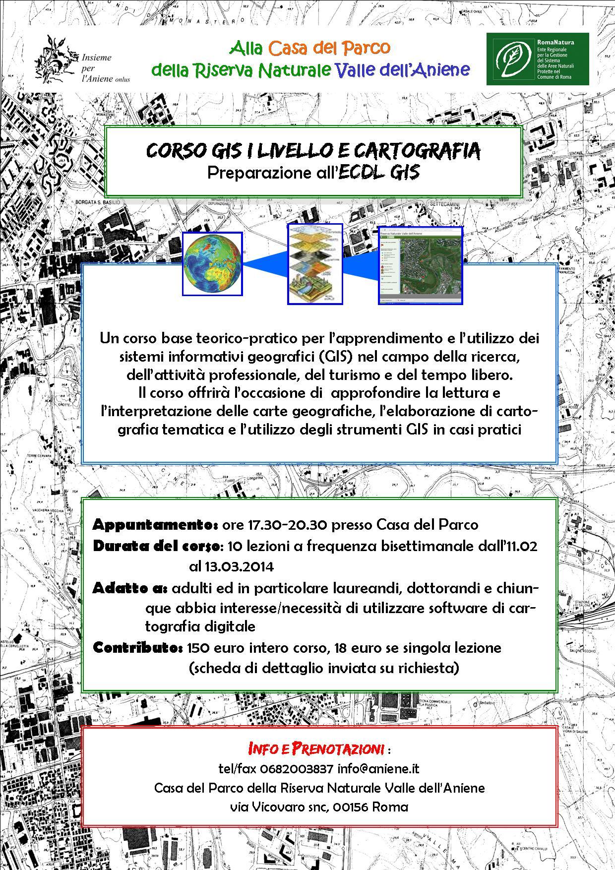 CORSO GIS I LIVELLO E CARTOGRAFIA