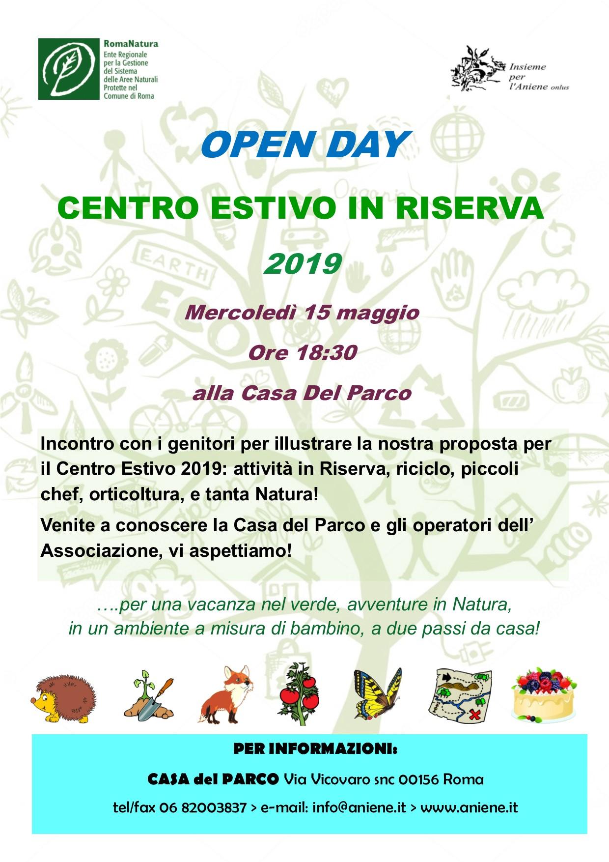 OPEN DAY CENTRO ESTIVO 2019