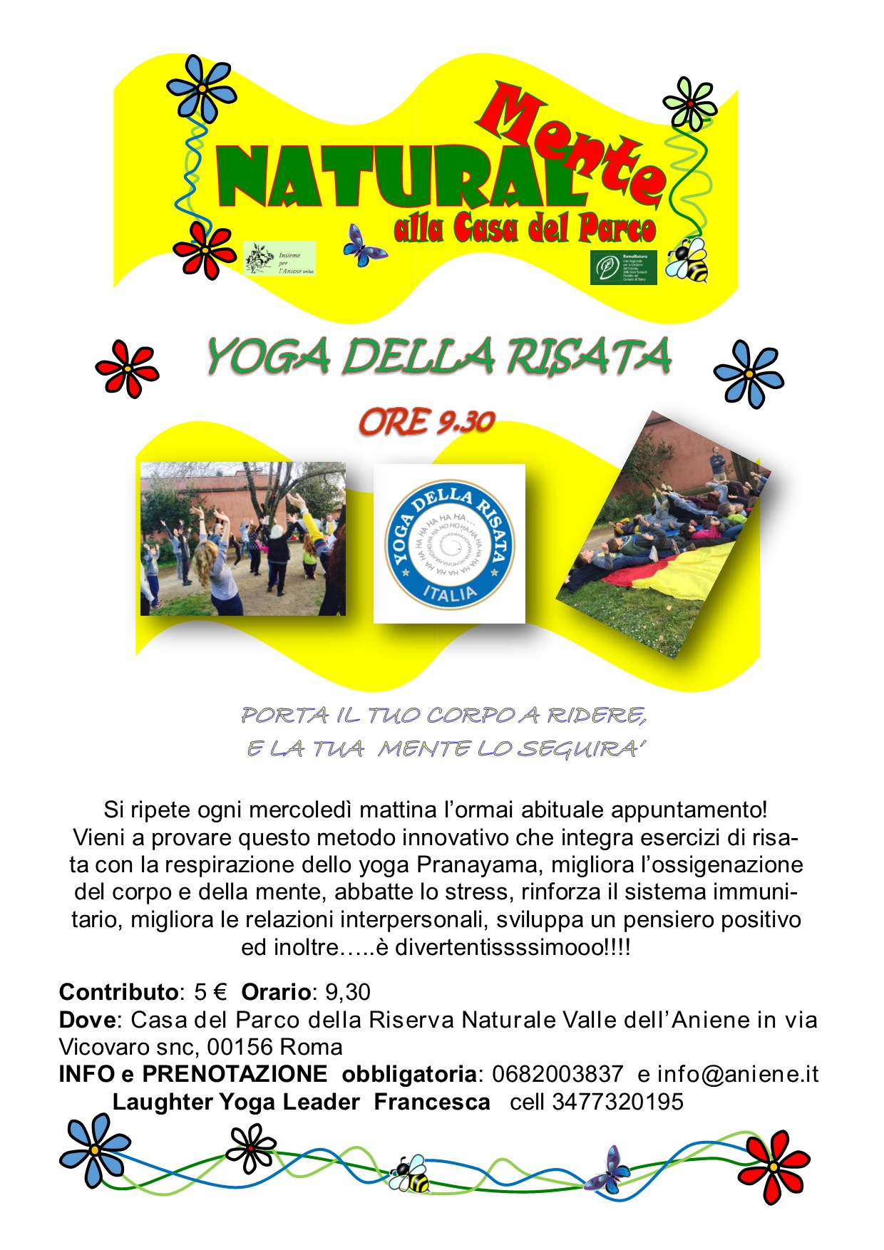 Yoga della Risata - mercoledì 15 aprile