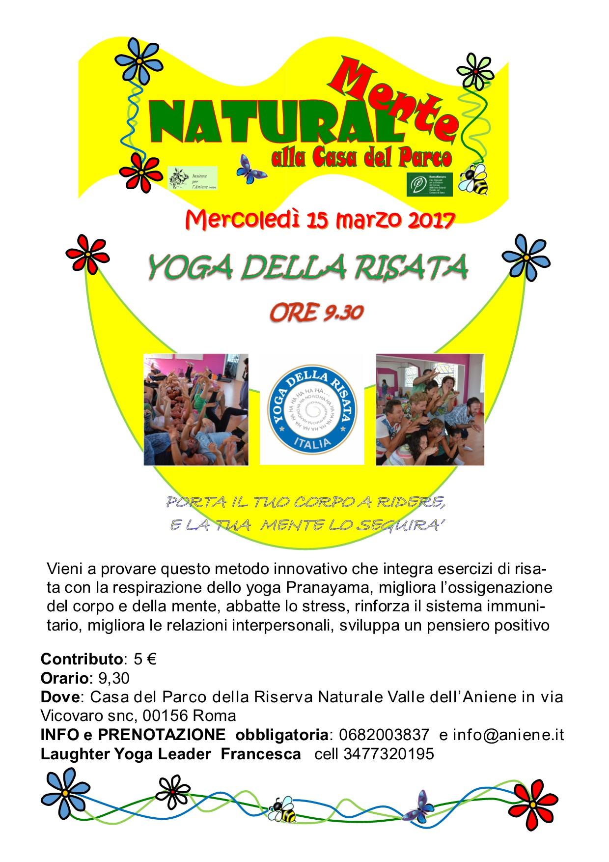 Yoga della Risata con Francesca Pieri - mercoledì 15 marzo