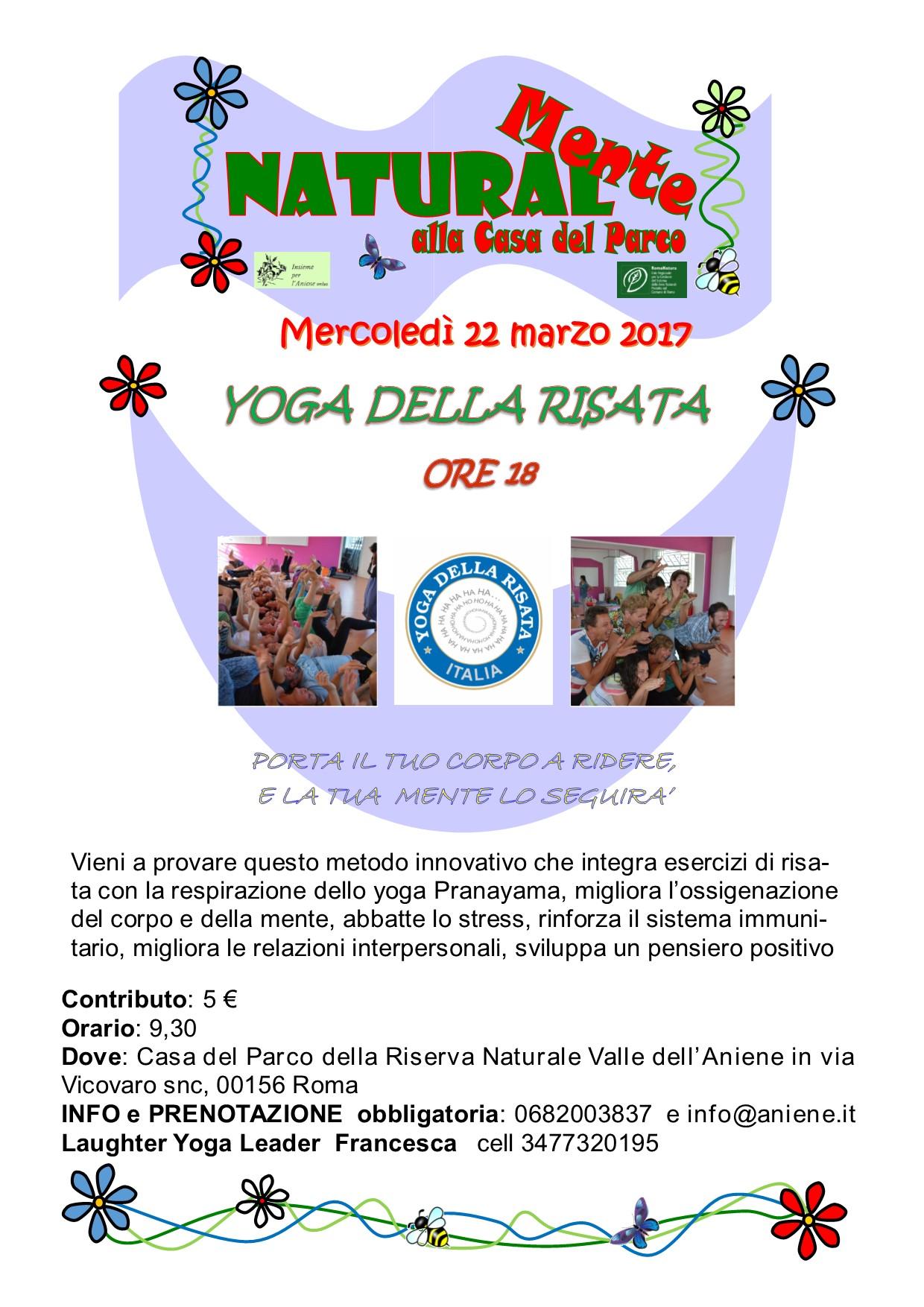 Yoga della Risata pomeridiano 22 marzo