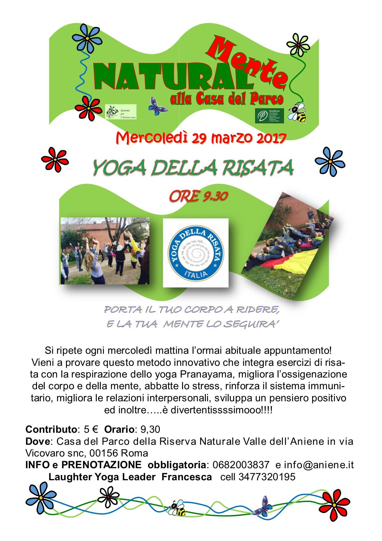 Yoga della Risata - mercoledì 29 marzo mattina e pomeriggio