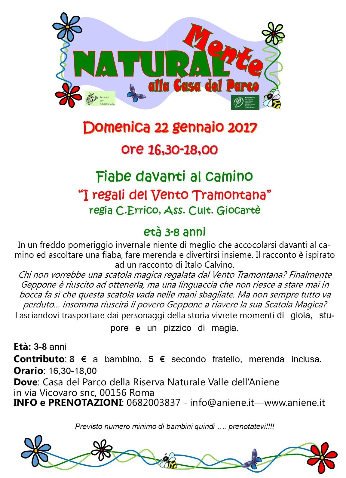 """Fiabe davanti al camino """"I regali del Vento Tramontana"""""""