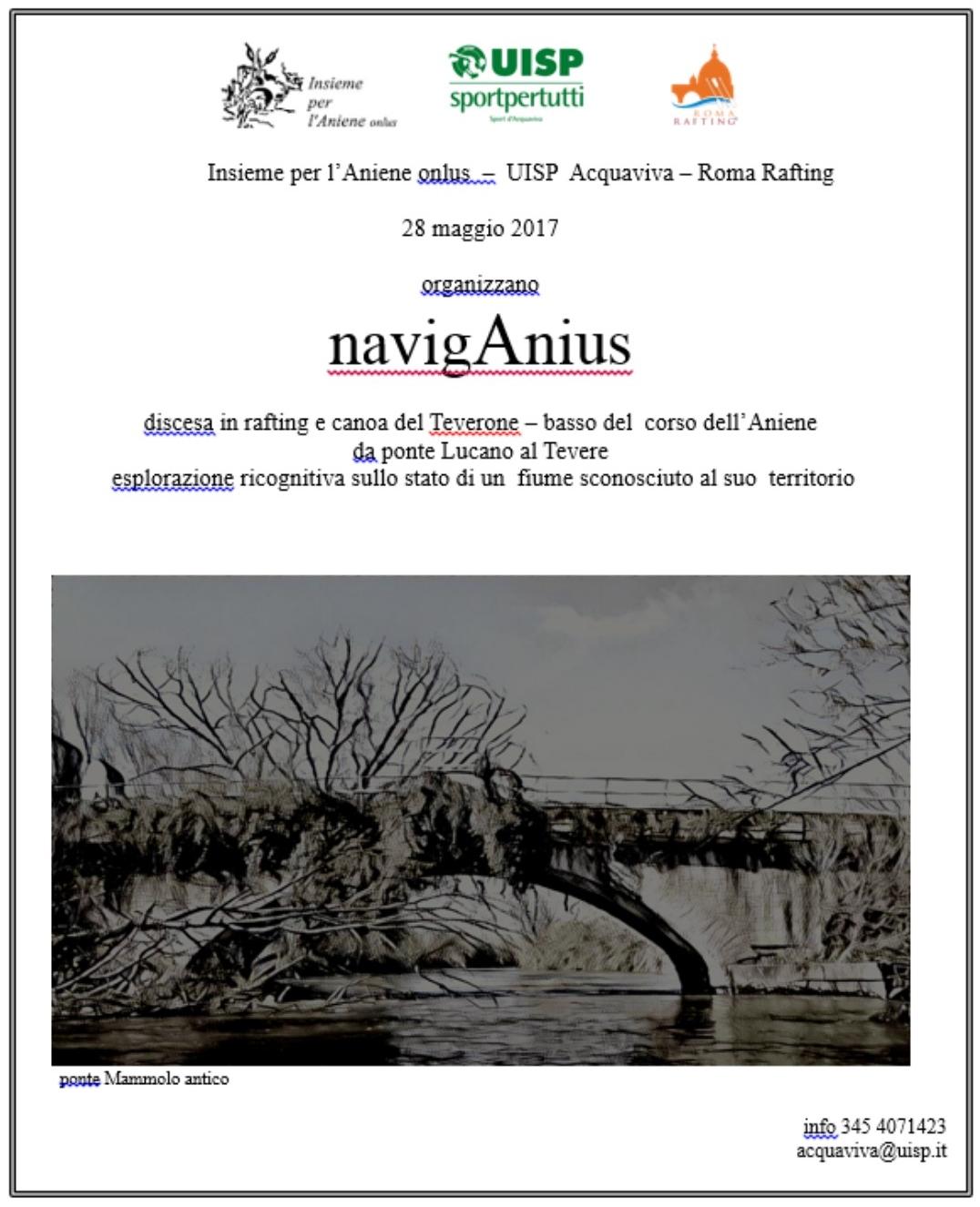 NavigAnius - discesa in rafting e canoa del Teverone
