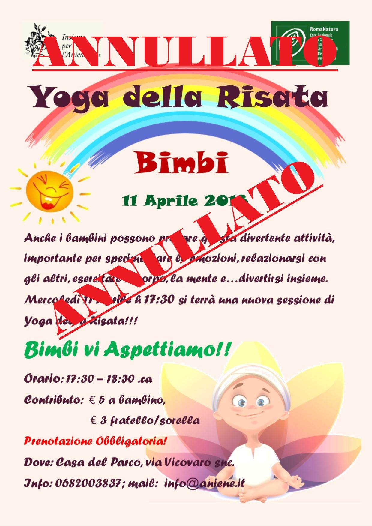 ANNULLATO - Yoga della Risata BIMBI