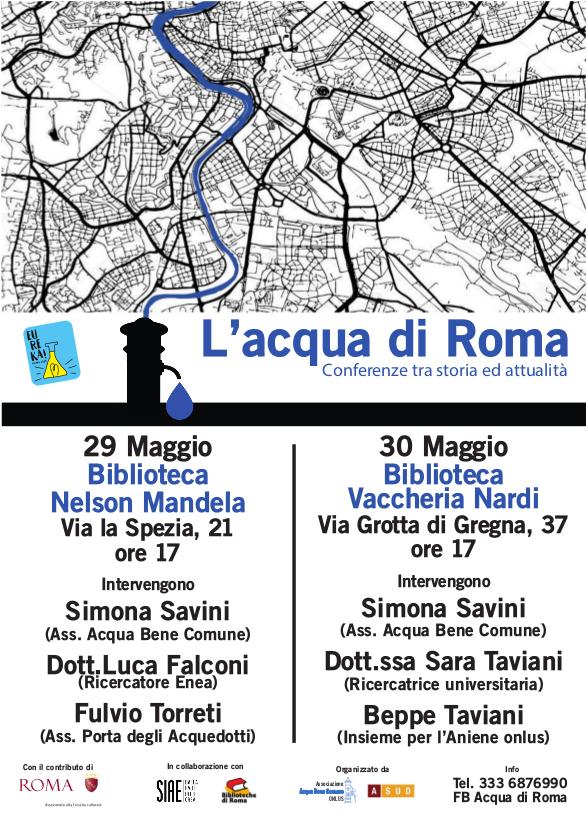 L'ACQUA DI ROMA - CONFERENZE TRA STORIA E ATTUALITA'