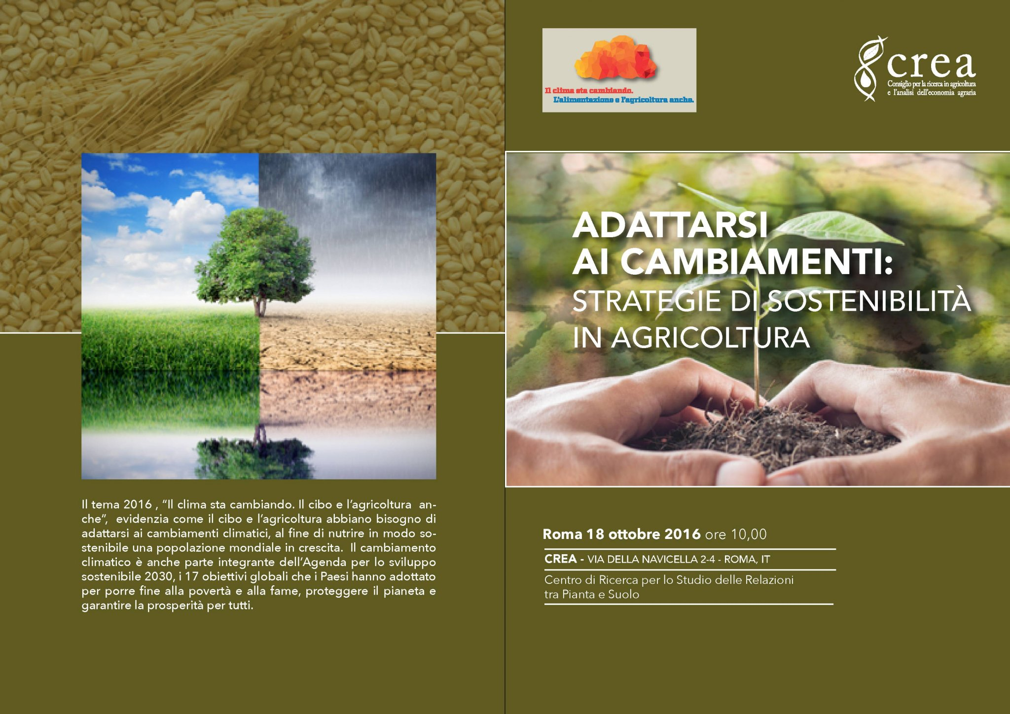 18 Ottobre - Giornata Mondiale dell'Alimentazione a Villa Celimontana