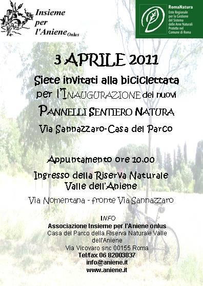 3 Aprile 2011 Biciclettata nella Riserva