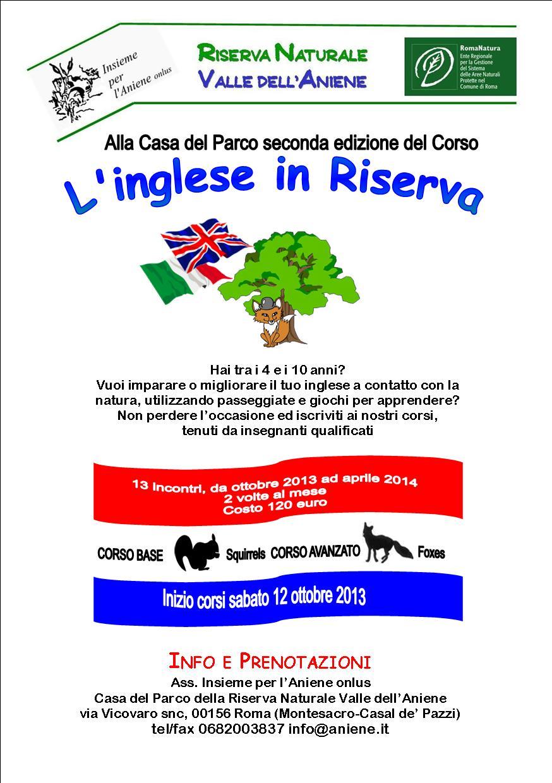 """26 ottobre - """"L'INGLESE IN RISERVA"""" seconda edizione  - Corso base ed avanzato"""