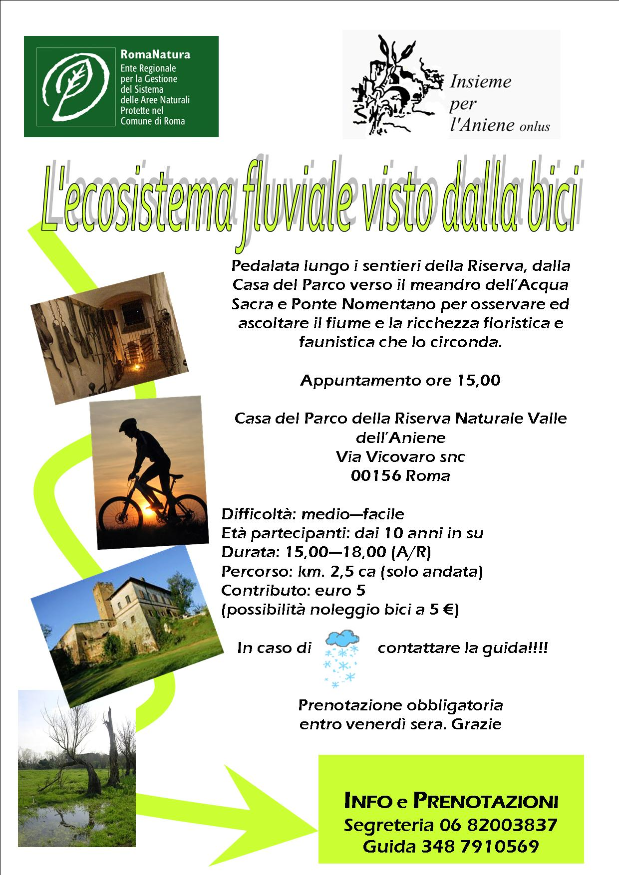 20 Maggio 2012 L'ECOSISTEMA FLUVIALE VISTO DALLA BICI