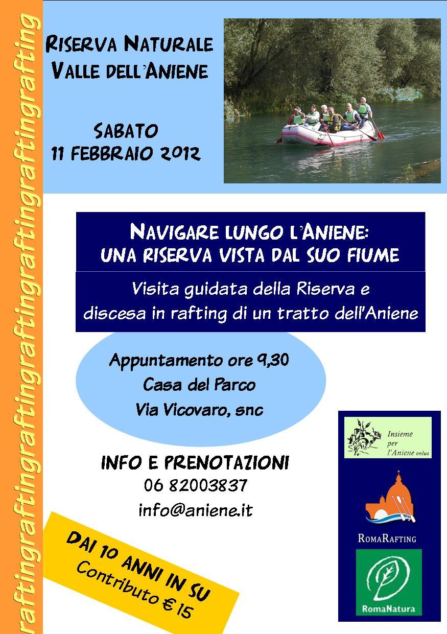 11 FEBBRAIO 2012 NAVIGARE LUNGO L'ANIENE:UNA RISERVA VISTA DAL SUO FIUME