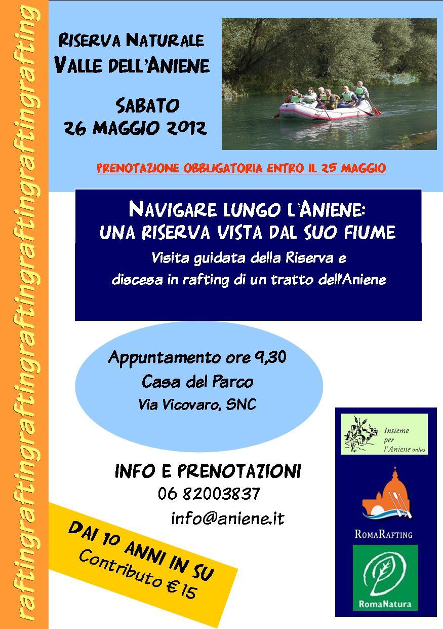 26 MAGGIO 2012 NAVIGANDO LUNGO L'ANIENE