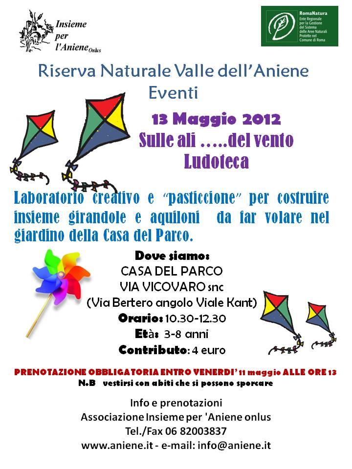 13 MAGGIO 2012 SULLE ALI...DEL VENTO!! Ludoteca
