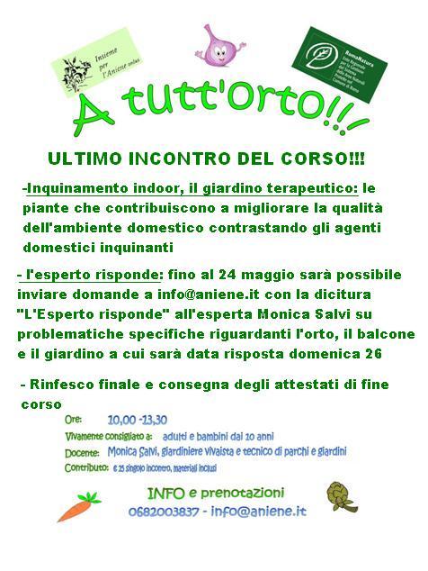 """26 MAGGIO 2013- """"A TUTT'ORTO"""" ULTIMO INCONTRO"""