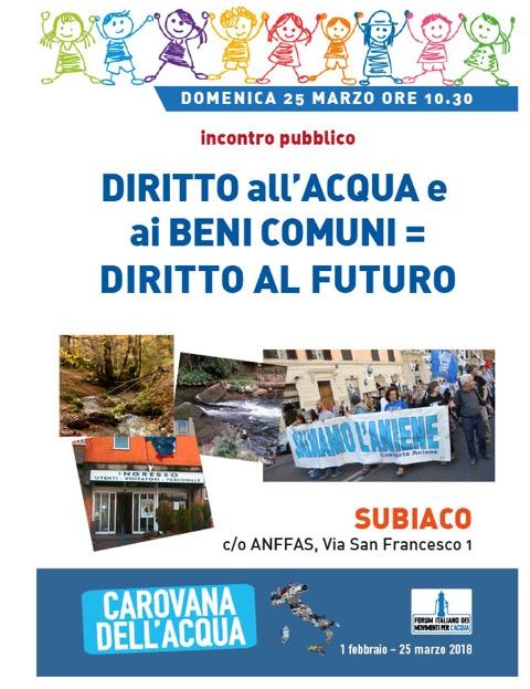 Subiaco - Prospettive e cambiamenti per il servizio idrico integrato alla tutela dei Fiumi.