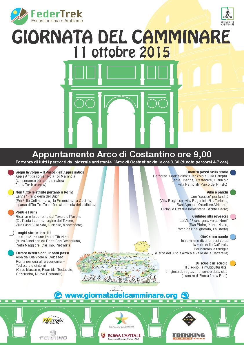 Giornata Nazionale del Camminare - 11 Ottobre 2015
