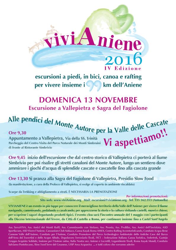 ViviAniene 2016 - Vallepietra, la valle delle Cascate e la sagra del Fagiolone